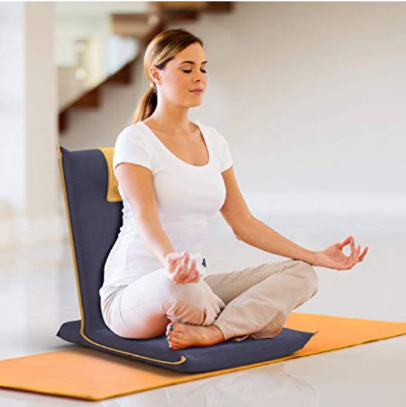The Best Meditation Chair - BonVivo woman meditating